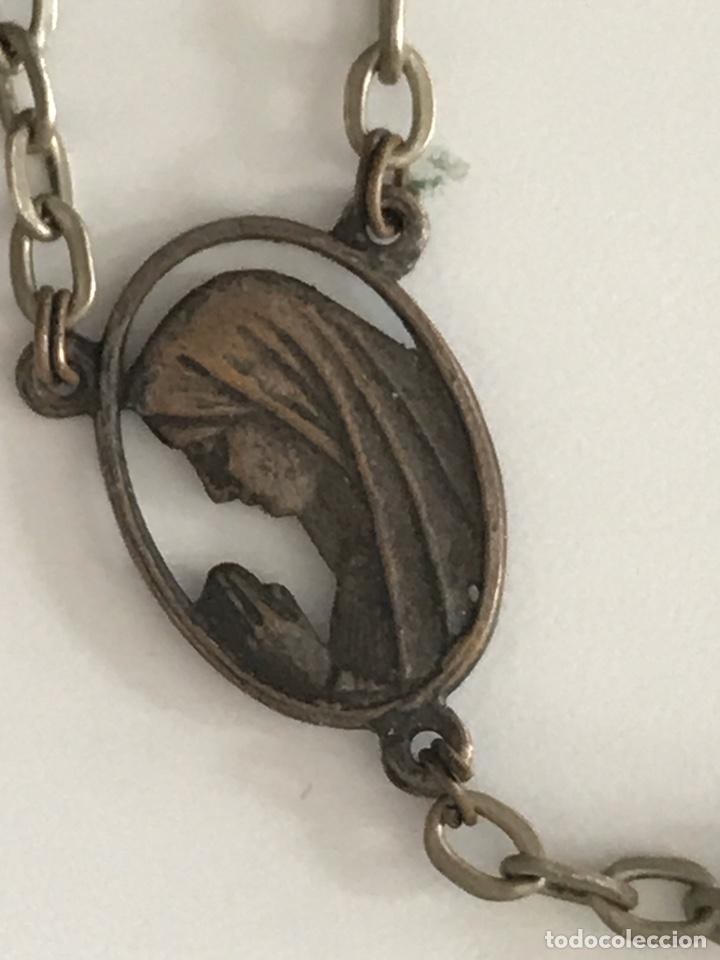 Antigüedades: Curioso y espectacular rosario antiguo de plata y azabache. Cruz de madera - Foto 4 - 194194588