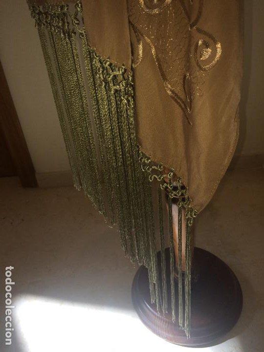 Antigüedades: ELEGANTE CHAL DE MUJER PARA FIESTA - AÑOS 30/40 - EXCELENTE CALIDAD - Medidas 190 x 70 cms. - Foto 5 - 194199795