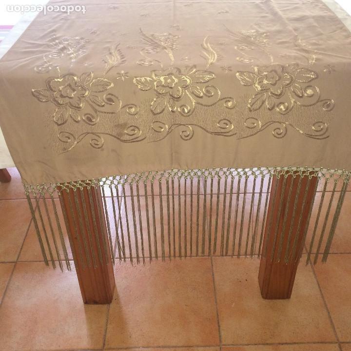 Antigüedades: ELEGANTE CHAL DE MUJER PARA FIESTA - AÑOS 30/40 - EXCELENTE CALIDAD - Medidas 190 x 70 cms. - Foto 9 - 194199795