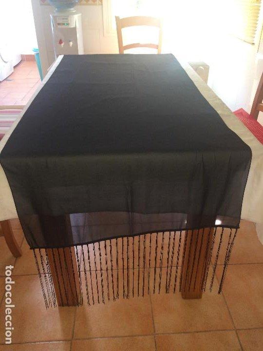 Antigüedades: ELEGANTE CHAL DE MUJER PARA CEREMONIA - AÑOS 30/40 - EXCELENTE CALIDAD - Medidas 190 x 70 cms. - Foto 9 - 194199886