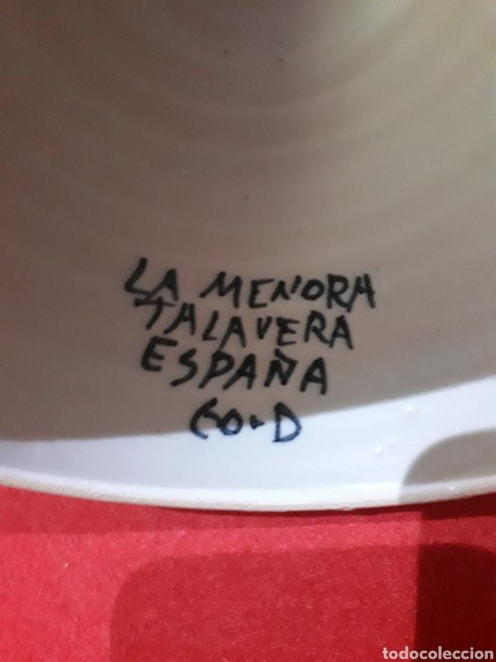 Antigüedades: GRAN CAMPANA DE CERÁMICA DEL ALFAR DE LA MENORA, TALAVERA. 21 x 15 cm. - Foto 2 - 194206368
