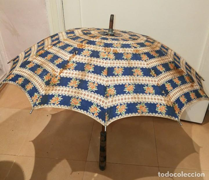 Antigüedades: Antigua sombrilla para restaurar. - Foto 5 - 194207371