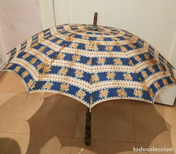Antigüedades: Antigua sombrilla para restaurar. - Foto 6 - 194207371