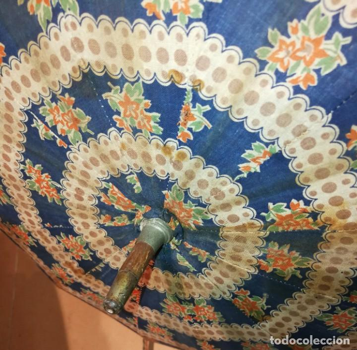 Antigüedades: Antigua sombrilla para restaurar. - Foto 7 - 194207371