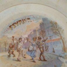 Antigüedades: PLATO DEL MES DE FEBRERO DINOISE. Lote 194208405