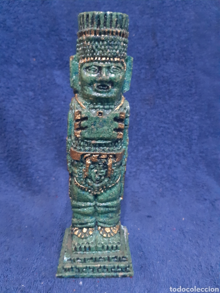 FIGURA ÉTNICA AZTECA EN PIEDRA (Antigüedades - Hogar y Decoración - Figuras Antiguas)