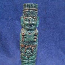 Antigüedades: FIGURA ÉTNICA AZTECA EN PIEDRA. Lote 194212450