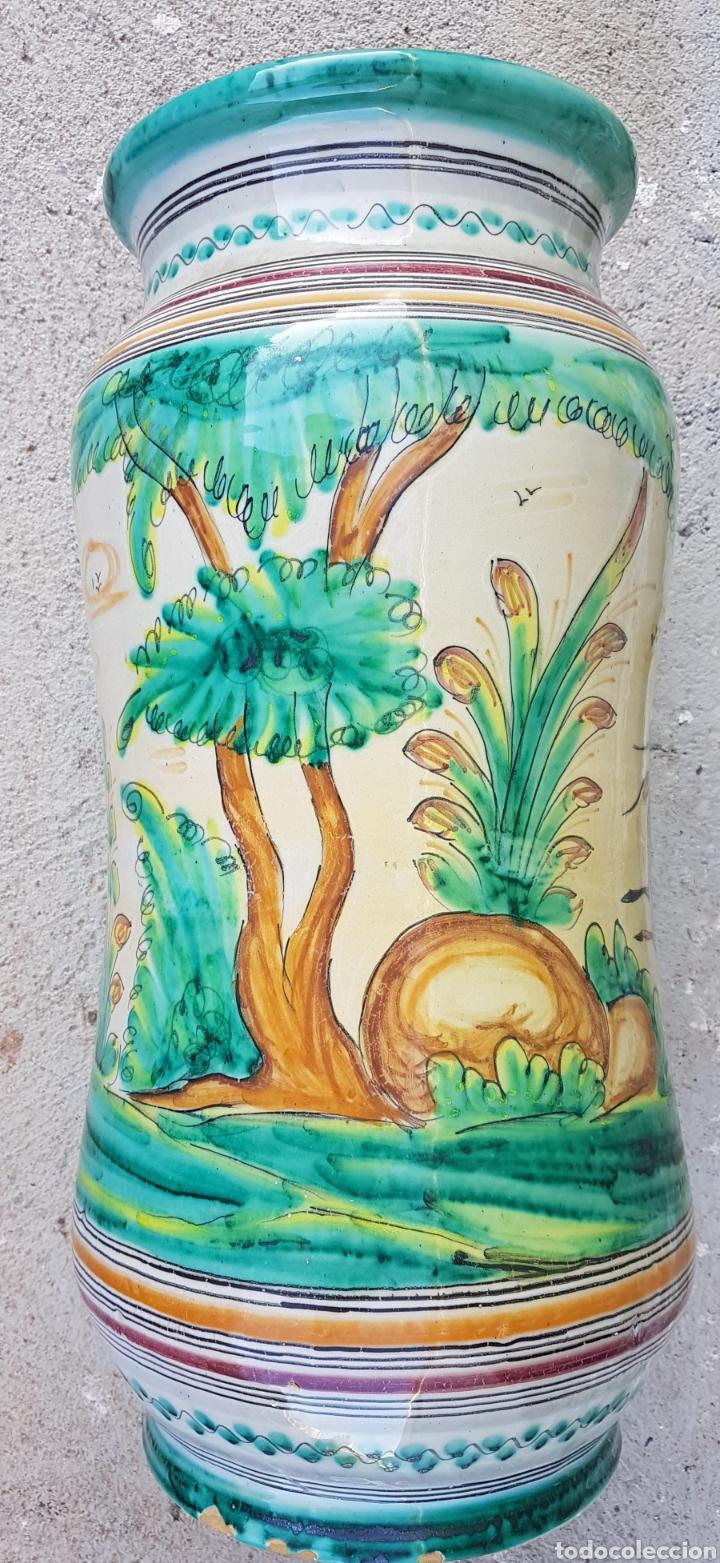 Antigüedades: Gran jarron paraguero ceramica talavera - Foto 3 - 194212548
