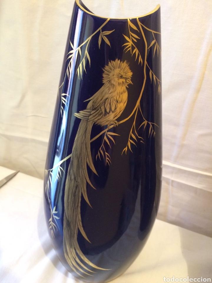 Antigüedades: Jarrones porcelana azul - Foto 3 - 194213306