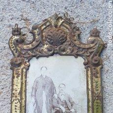 Antigüedades: ANTIGUO MARCO HOJALATA PARA FOTOGRAFIA. Lote 194215250