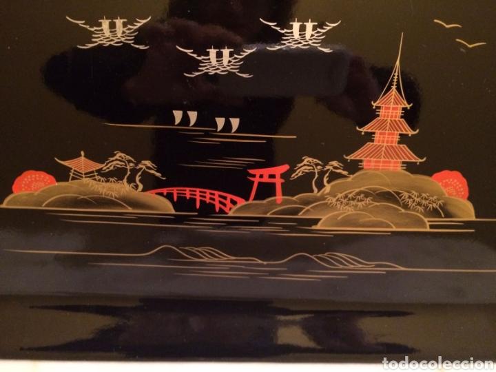 Antigüedades: Bandeja china pintada mano - Foto 2 - 194215478