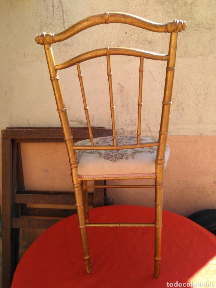 SILLA DORADA CON PETIT PUA (Antigüedades - Muebles Antiguos - Sillas Antiguas)