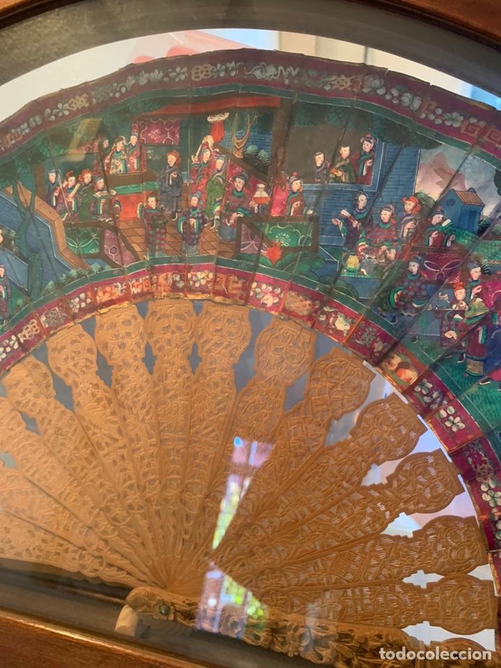 Antigüedades: Abanico chino siglo XIX con abaiquera , - Foto 6 - 194141705