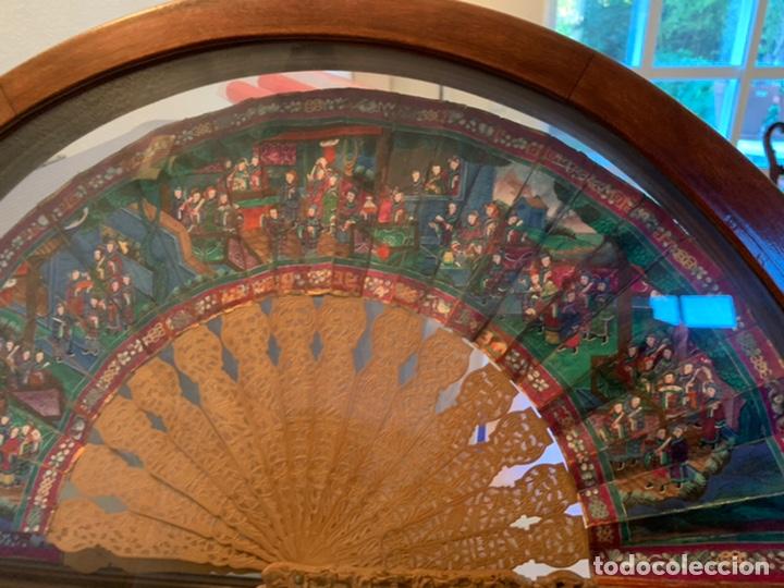 Antigüedades: Abanico chino siglo XIX con abaiquera , - Foto 7 - 194141705