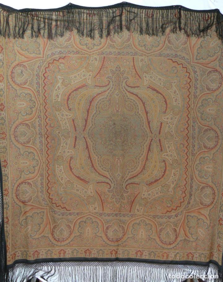 Antigüedades: MANTON ESTAMPADO - IMPRESO - Foto 4 - 194221611
