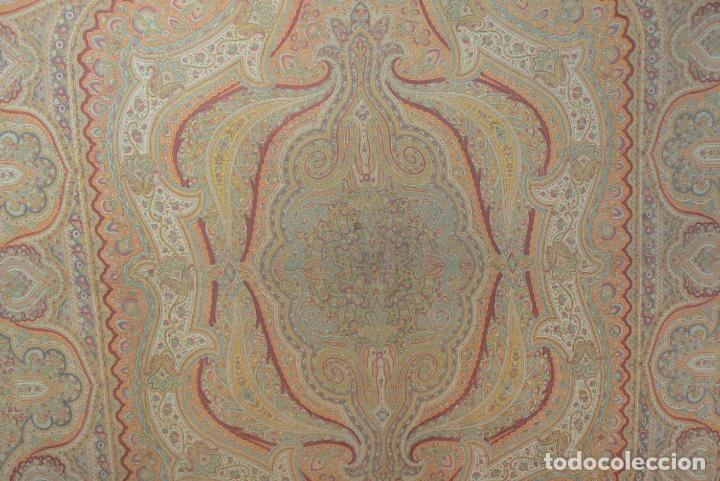 Antigüedades: MANTON ESTAMPADO - IMPRESO - Foto 5 - 194221611