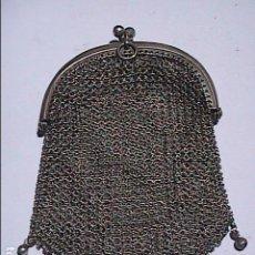 Antigüedades: ANTIGUO MONEDERO EN PLATA DE LEY 800 CON DOS ESPACIOS PARA MONEDAS.. Lote 194224387