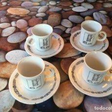 Antigüedades: 4 PLATOS Y VASOS CAFE MONKY. Lote 194224850