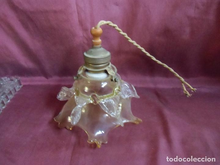 ANTIGUA LAMPARA DE TECHO.TODO ORIGINAL,AÑOS 20,PRECIOSA TULIPA. (Antigüedades - Iluminación - Lámparas Antiguas)