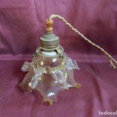 Antigüedades: ANTIGUA LAMPARA DE TECHO.TODO ORIGINAL,AÑOS 20,PRECIOSA TULIPA.. Lote 194228943
