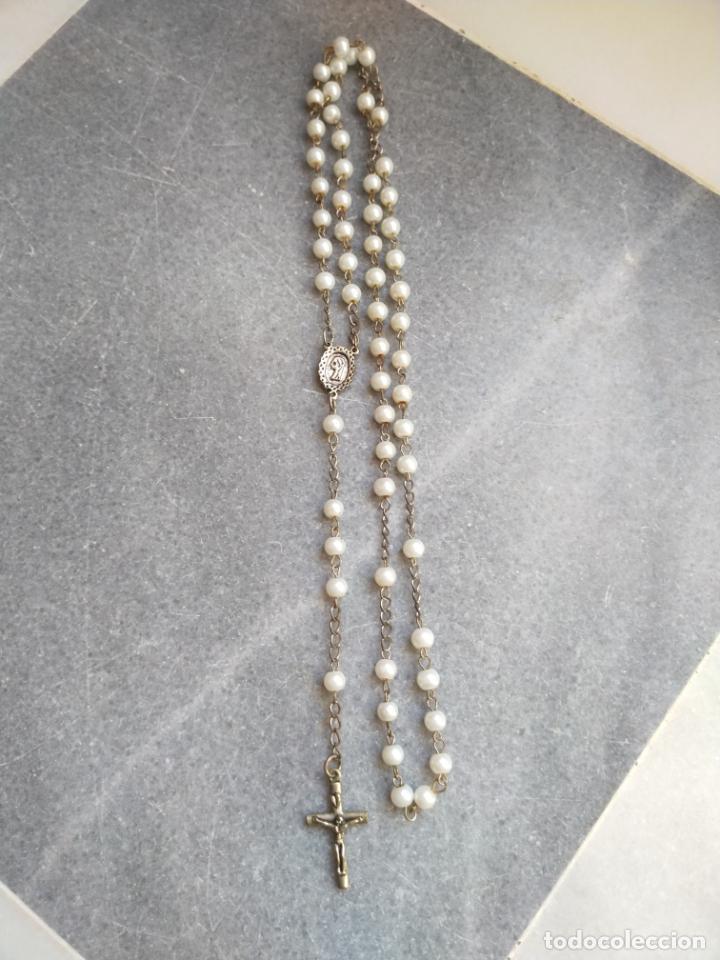 Antigüedades: Antiguo rosario de perlas - Foto 2 - 194229563