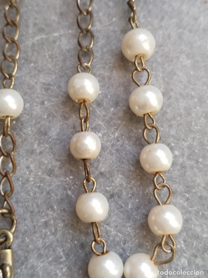 Antigüedades: Antiguo rosario de perlas - Foto 4 - 194229563