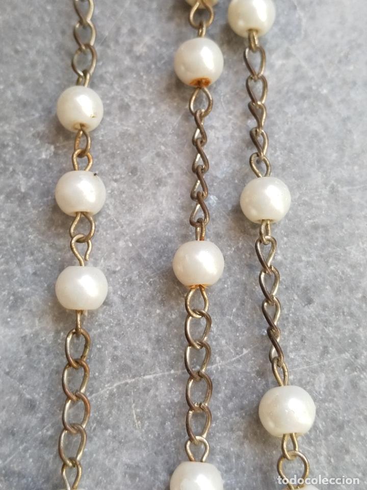 Antigüedades: Antiguo rosario de perlas - Foto 5 - 194229563