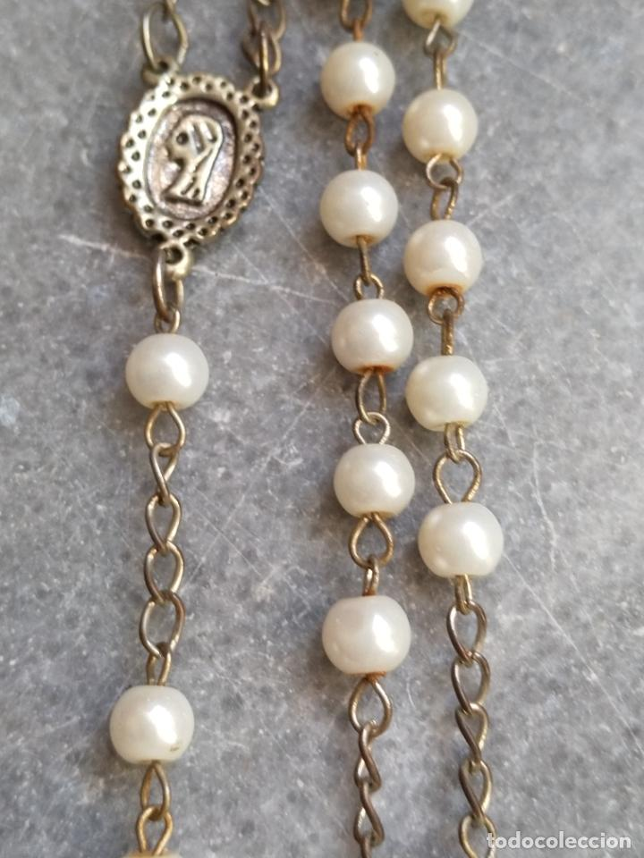 Antigüedades: Antiguo rosario de perlas - Foto 6 - 194229563