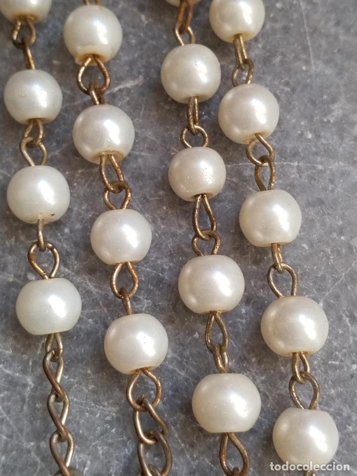Antigüedades: Antiguo rosario de perlas - Foto 8 - 194229563