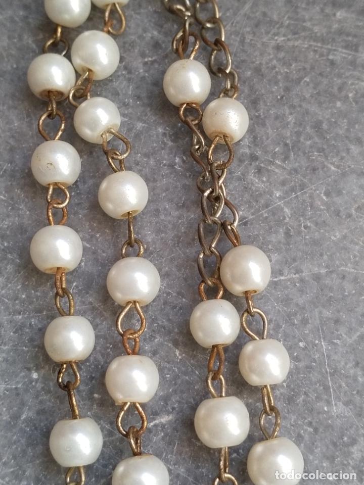 Antigüedades: Antiguo rosario de perlas - Foto 9 - 194229563