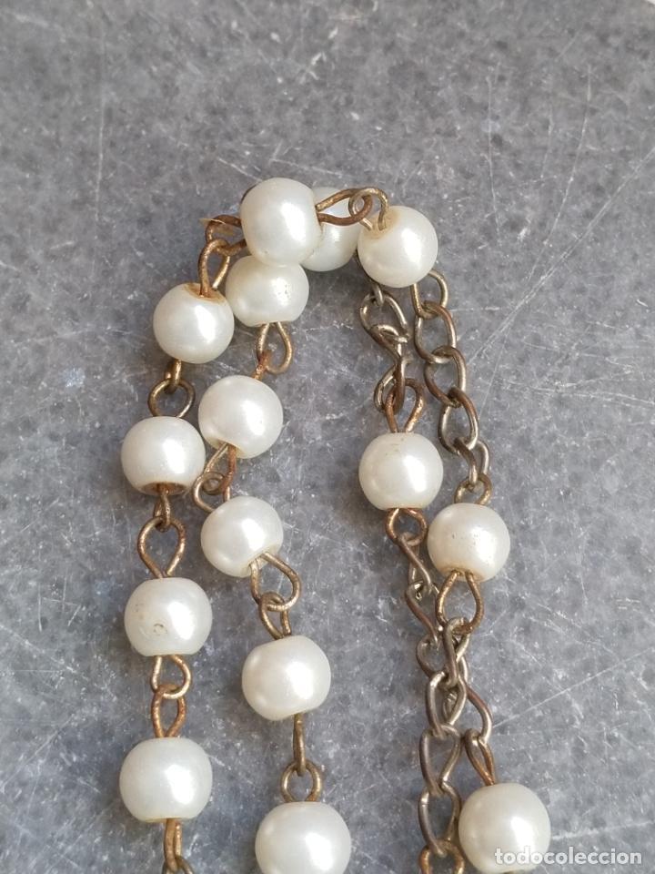 Antigüedades: Antiguo rosario de perlas - Foto 10 - 194229563