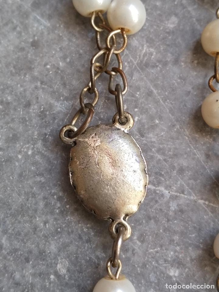 Antigüedades: Antiguo rosario de perlas - Foto 11 - 194229563