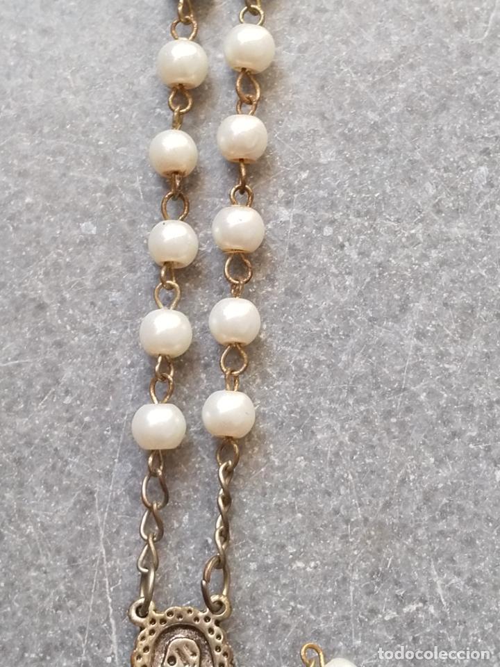 Antigüedades: Antiguo rosario de perlas - Foto 18 - 194229563