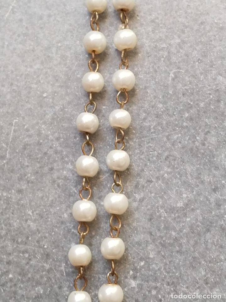 Antigüedades: Antiguo rosario de perlas - Foto 19 - 194229563