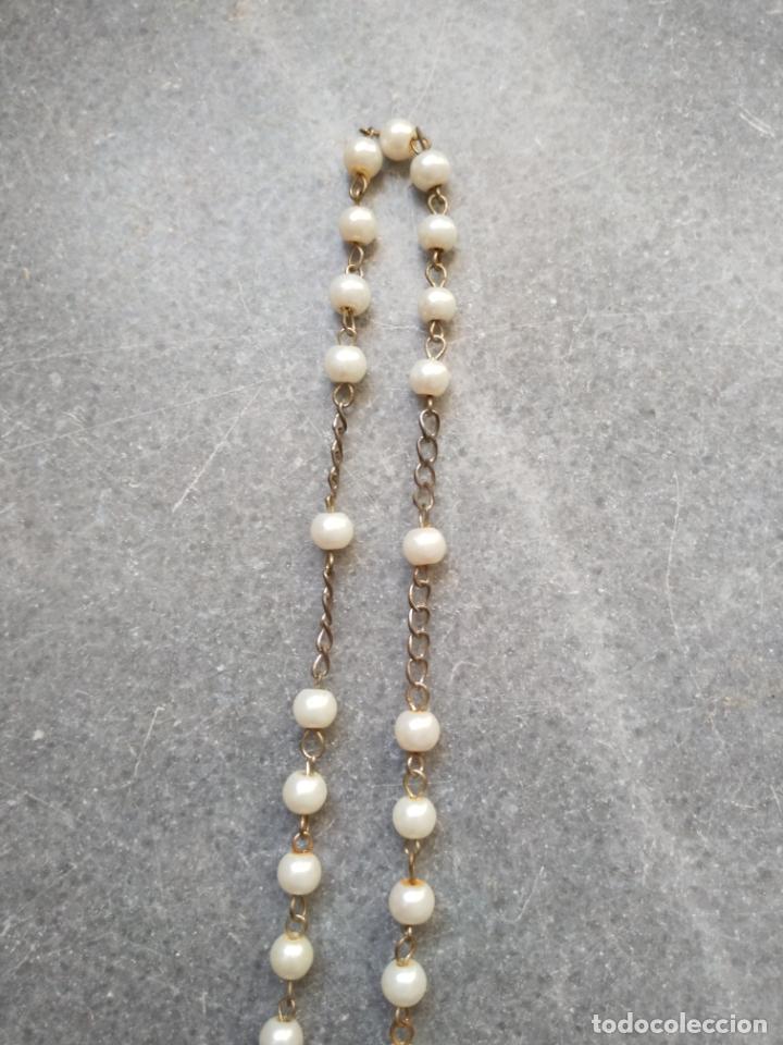 Antigüedades: Antiguo rosario de perlas - Foto 22 - 194229563