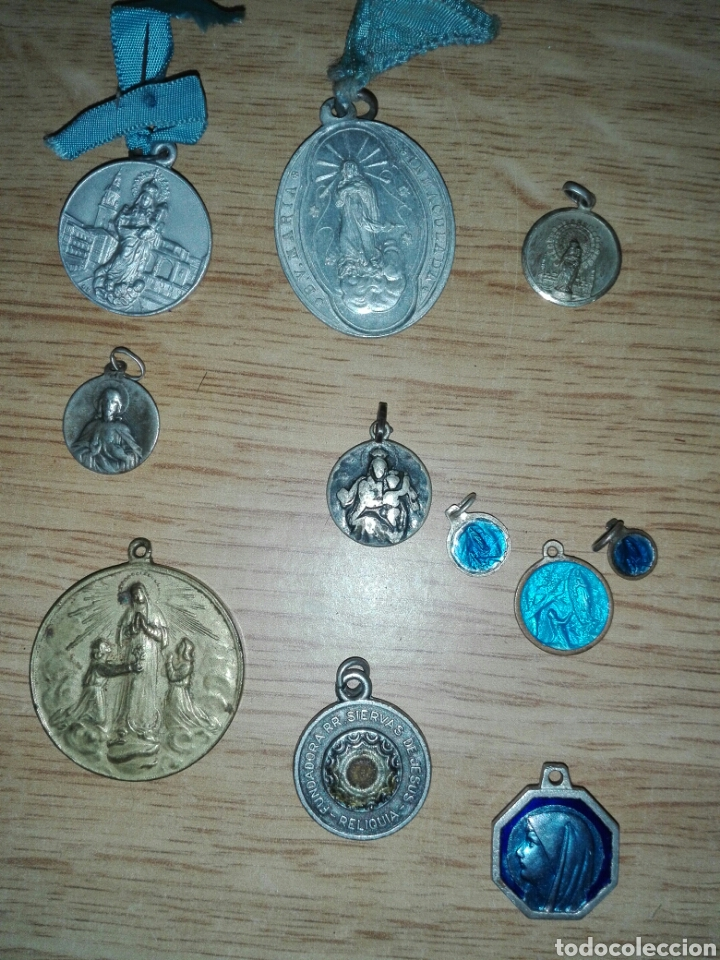 Antigüedades: Lote objetos religiosos - Foto 4 - 194230083