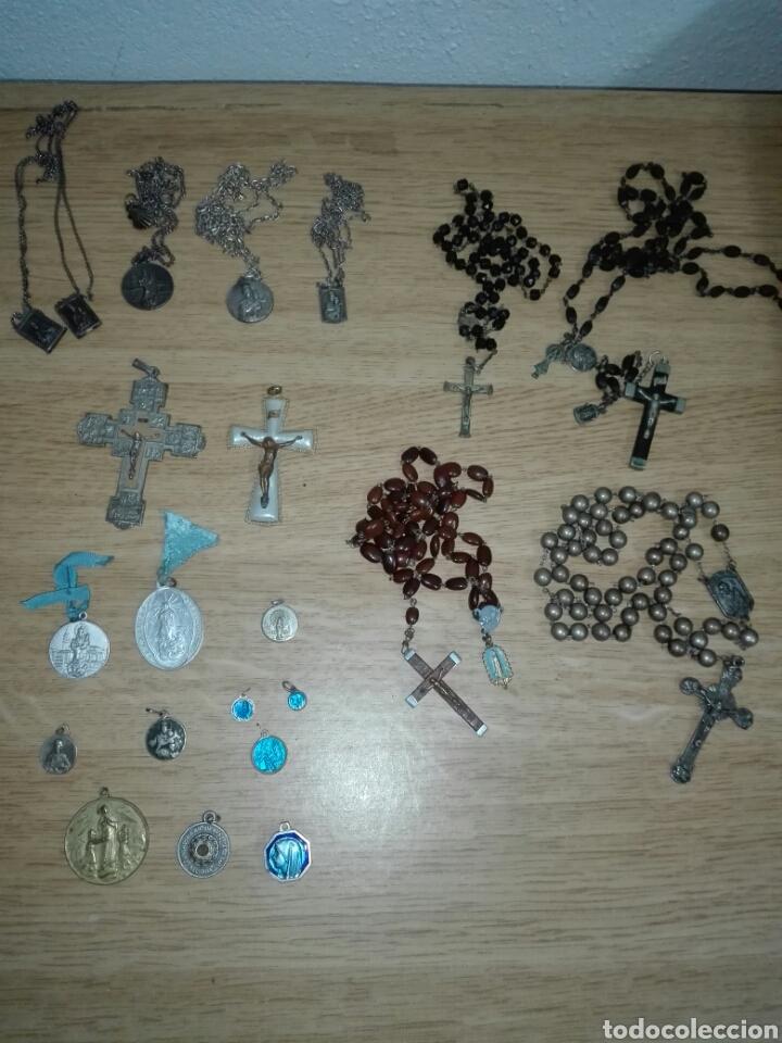 LOTE OBJETOS RELIGIOSOS (Antigüedades - Religiosas - Varios)