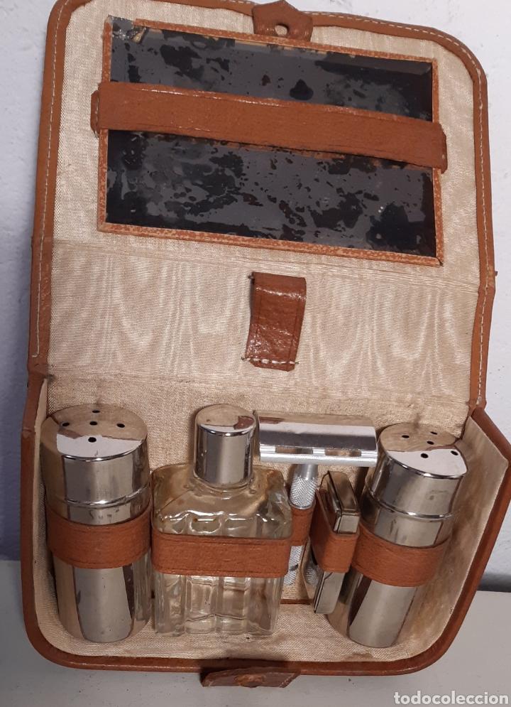 Antigüedades: Estuche de aseo, de piel - Foto 2 - 194232267