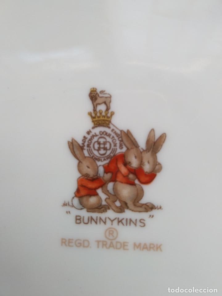 Antigüedades: Juego de tres piezas bebe porcelana Inglesa Royal Doulton Bunnykins - Foto 19 - 194233697