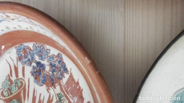 Antigüedades: LOTE 11 PLATOS PORCELANA PARA COLGAR. TODOS FIRMADOS. MANISES, MUEL... - Foto 7 - 194236821