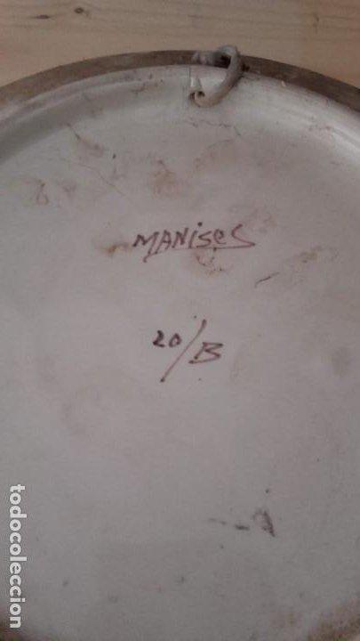 Antigüedades: LOTE 11 PLATOS PORCELANA PARA COLGAR. TODOS FIRMADOS. MANISES, MUEL... - Foto 9 - 194236821