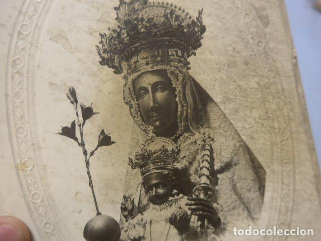 Antigüedades: * Antiguo marco de la moreneta, virgen de montserrat, mediados siglo XX, original. ZX - Foto 2 - 194237931