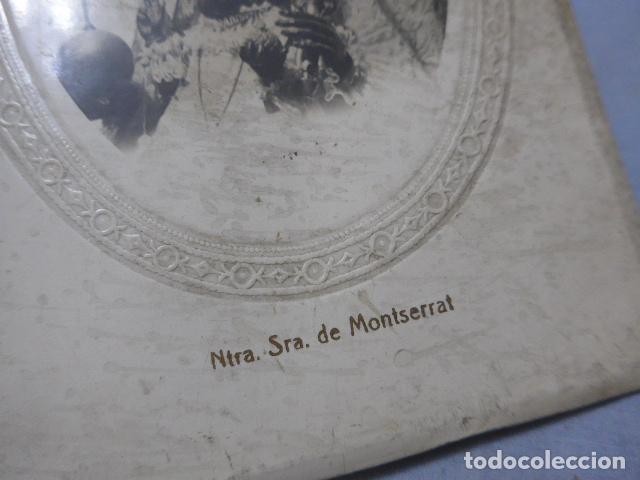 Antigüedades: * Antiguo marco de la moreneta, virgen de montserrat, mediados siglo XX, original. ZX - Foto 3 - 194237931