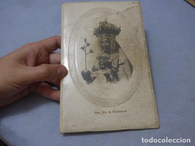 * ANTIGUO MARCO DE LA MORENETA, VIRGEN DE MONTSERRAT, MEDIADOS SIGLO XX, ORIGINAL. ZX (Antigüedades - Religiosas - Varios)
