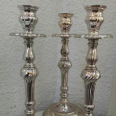 Antigüedades: CANDELABROS DE ALPACA. Lote 194238441