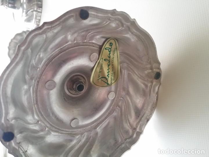 Antigüedades: CANDELABROS DE ALPACA - Foto 6 - 194238441