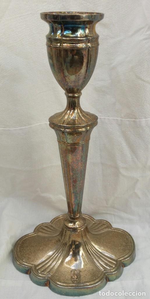 Antigüedades: CANDELABRO DE ALPACA - Foto 3 - 194238908