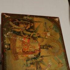 Antigüedades: ANTIGUO BAUL COFRE CAJA MADERA. Lote 194239120