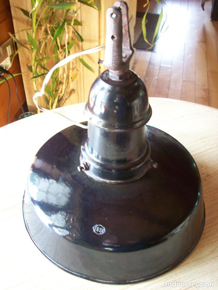 Antigüedades: LAMPARA INDUSTRIAL EGSA AÑOS 30 - Foto 2 - 194239698
