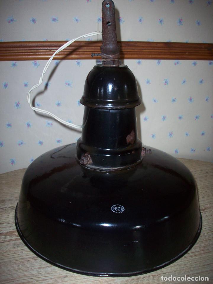 Antigüedades: LAMPARA INDUSTRIAL EGSA AÑOS 30 - Foto 14 - 194239698